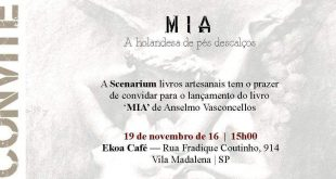"""#SP: """"Mia"""" o novo romance de Anselmo Vasconcellos"""